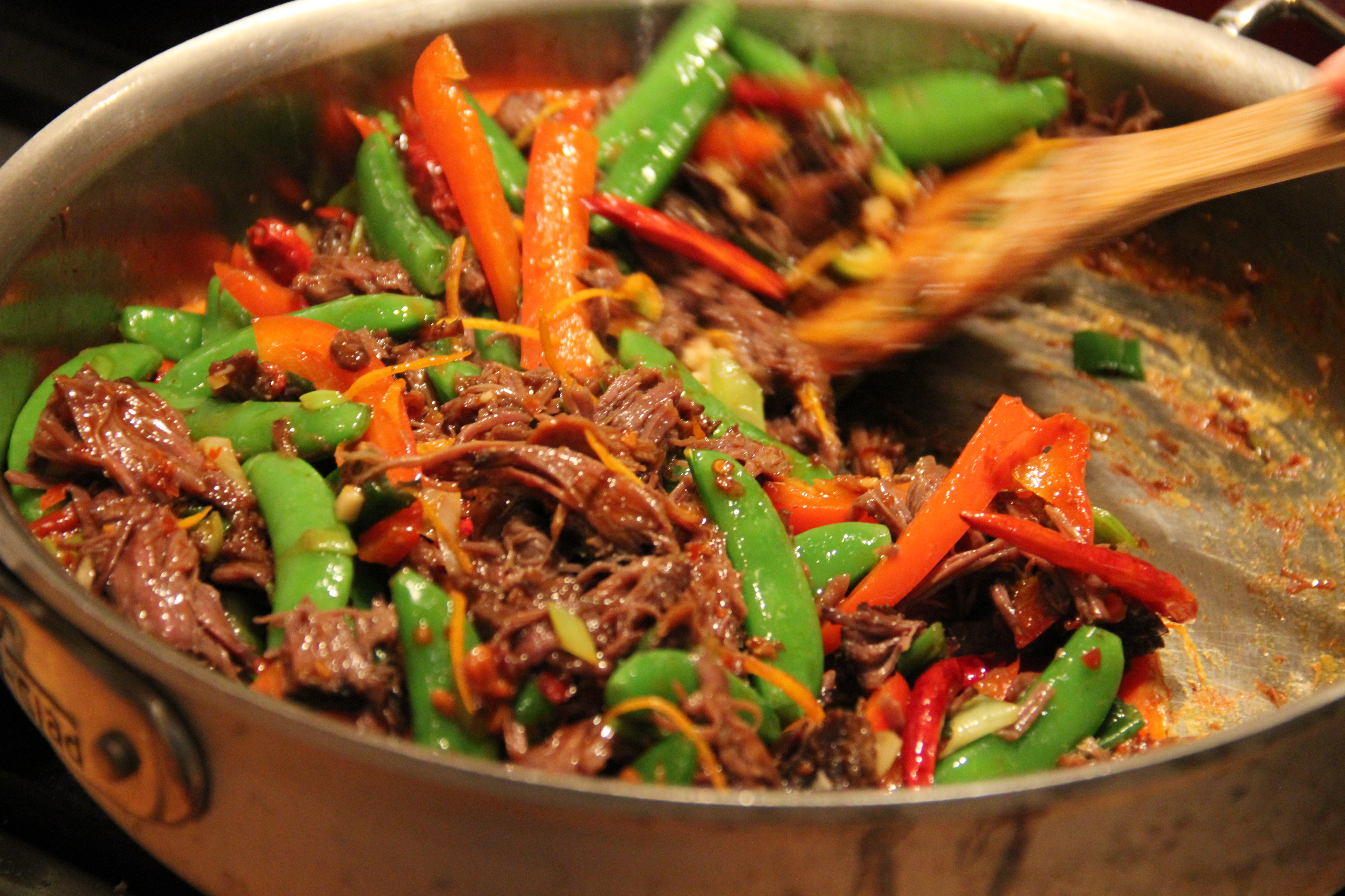 Braised Sichuan beef cheek with orange for Chinese New Year
