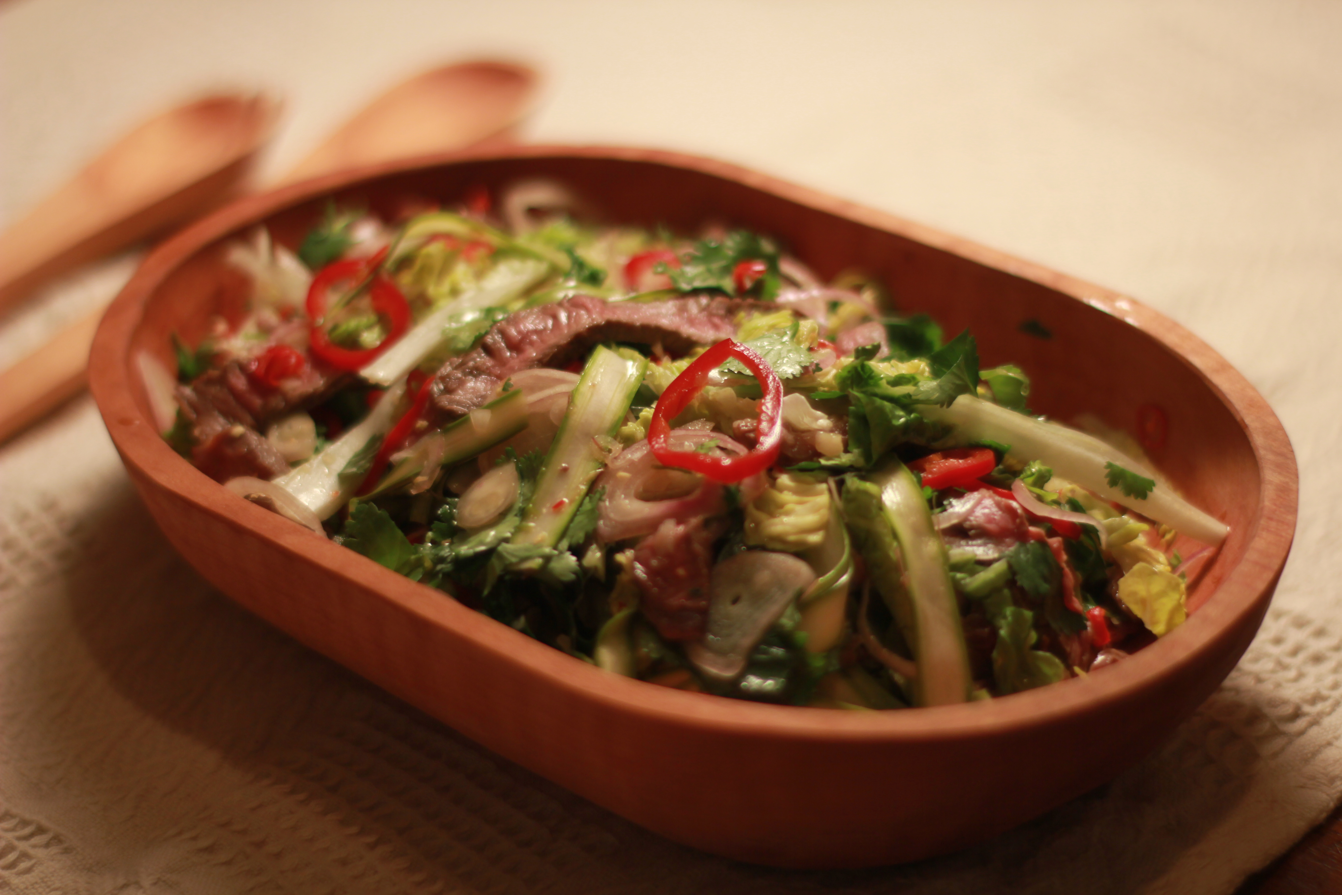 Vietnamese Beef And Raw Asparagus Salad